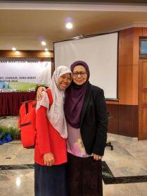 Bersama Puan Norsiah, pembimping dari Brunei